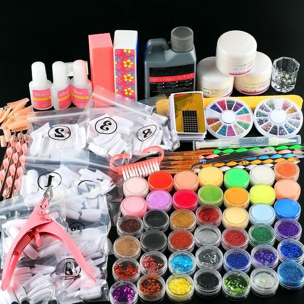 42pc acrylic powder nail powder glitter acrylic