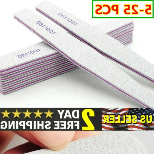 5 25pcs nail files buffer shiner polisher