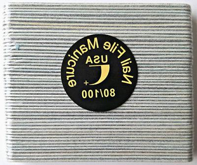 50pcs mini manicure nail file zebra 80