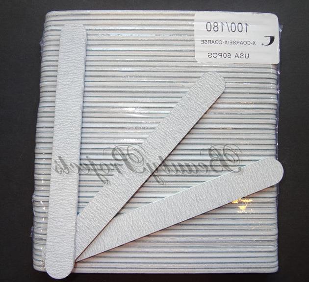 50pcs professional acrylic nail file 100 180