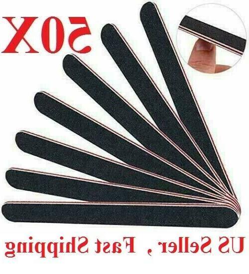 50pcs professional eva nail file 100 180