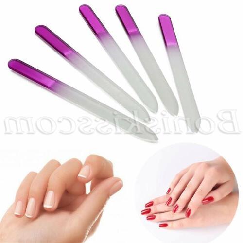 5pcs Pro Women Glass Art Buffing Sanding Manicure Tool