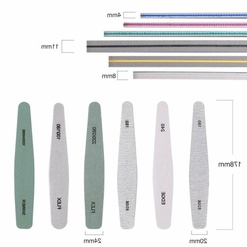 Makartt 6 File Acrylic Nails, Professional Buffer