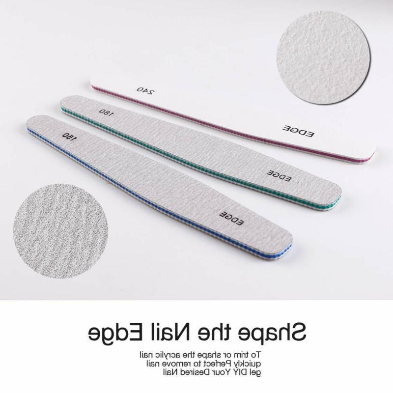 Makartt 6 Pcs File for Acrylic Gel Buffer