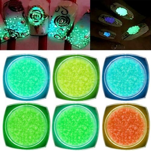 6colors series of fluorescent neon luminous gel