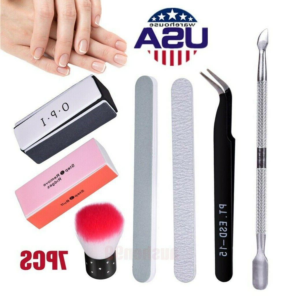 7pcs professional nail file 100 180 damper