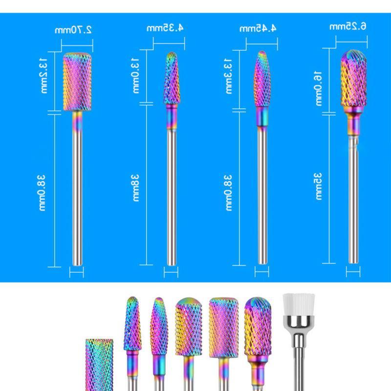 7pcs Tungsten Carbide Nail Drill Bits New