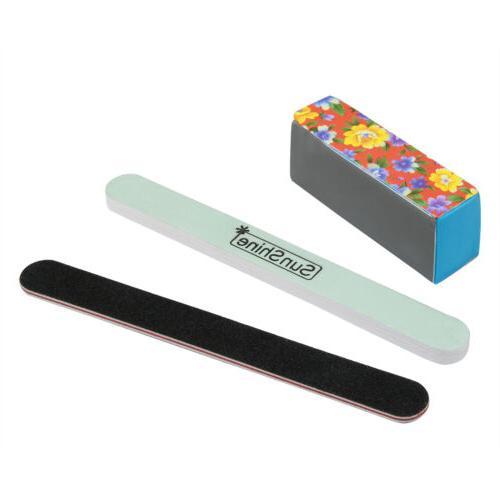 UV Gel Sanding File Pen Glass Nail Set Kit