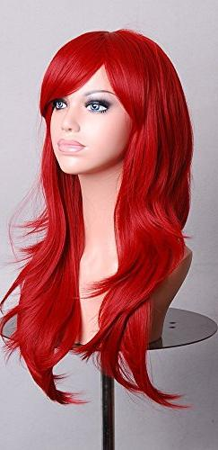 Anime Wigs Long Red High Temperature Hair Silk Wig Cosplay 7
