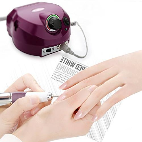 Belle Art Drill File Manicure Pedicure with Anti-scald Handpiece, 30,000RPM,