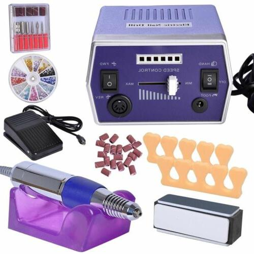 Electric Nail File Drill Manicure Machine Art Acrylic Pedicu