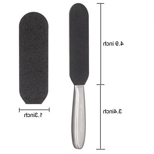 Foot Heel Remover - Professional Steel Metal Cracked Dead Skin Rasp Scrubber Tool with 12 Grits
