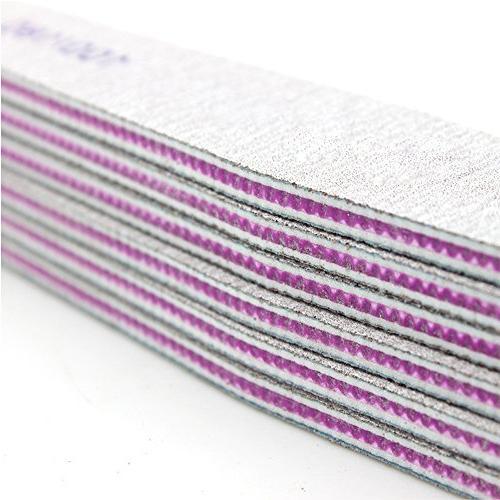 Hisight Fine Nail File Polishing Cushion Files Nail Files Double Sided 100 180 Grit Nail Buffering Files 10pcs pack