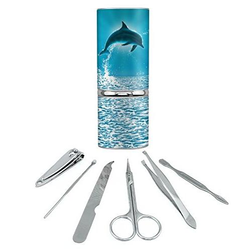Leaping Dolphin Ocean Light Stainless Steel Manicure Pedicur