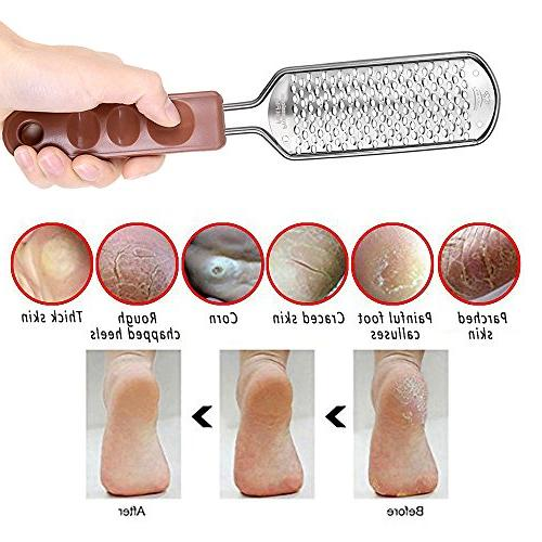 MAKARTT Professional Remover File Steel Foot Rasp for Beautiful F-08