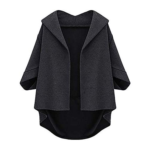 Moserian Womens Autumn Bat Sleeves Cropped Sleeves Five Plus