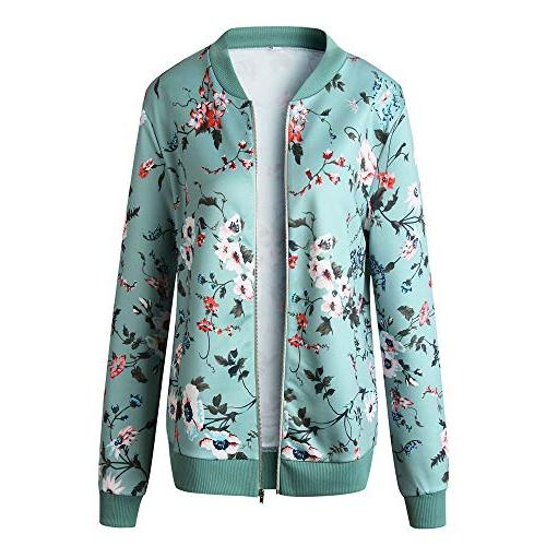 Moserian Womens Floral Jacket Casual Coat Outwear