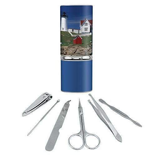 Nubble Lighthouse Maine ME Stainless Steel Manicure Pedicure