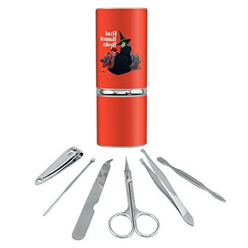 Read Banned Books Witch and Monkey Stainless Steel Manicure