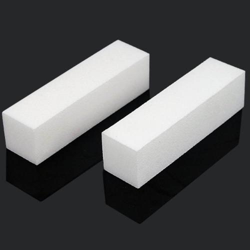 TOOGOO 10x White Acrylic Nail Art Tips Buffer Buffing Sandin