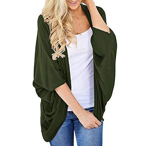 Women's Summer Solid Color Kimono Cardigan Loose Sleeves Cov
