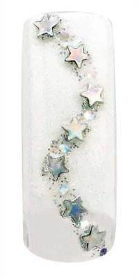 Cala Airbrushed Nail Tips Rhinestone Stars 87754+Nail Glue+A