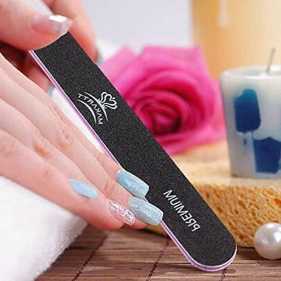 Makartt® nail file washable double-sided emery 100/180