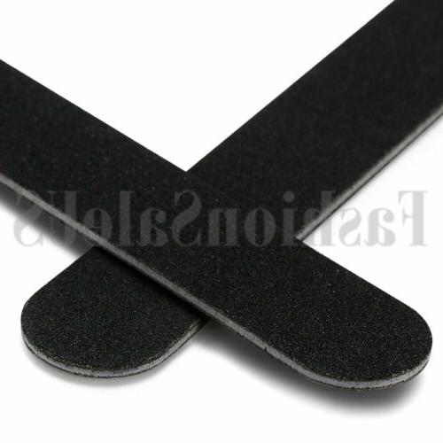 Black Double Manicure Nail File Boards Pack of 10pcs