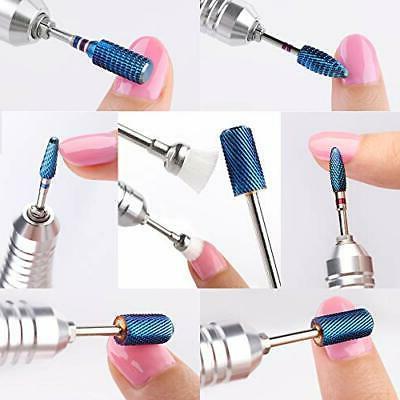 Makartt Blue Nail Bits 7Pcs Acrylic Nail Drill