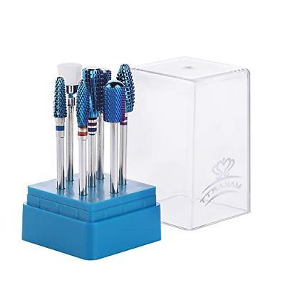blue nail drill bits set tungsten carbide