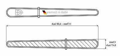 3 Swords fine & coarse SAPPHIRE POCKET NAIL