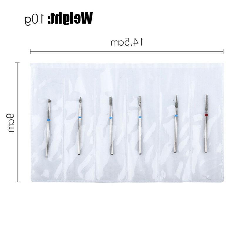 Clean Nail Drill Diamond Ceramic Nail Equipment Cutter Tool