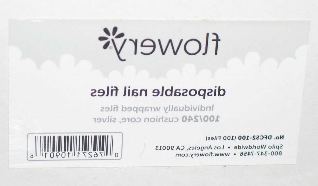 FLOWERY DFCS2-100 Nail Files 100/240 Core Silver NEW