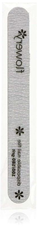 Flowery Disposable Nail File Cushion Core 100/180 Grit, Silv