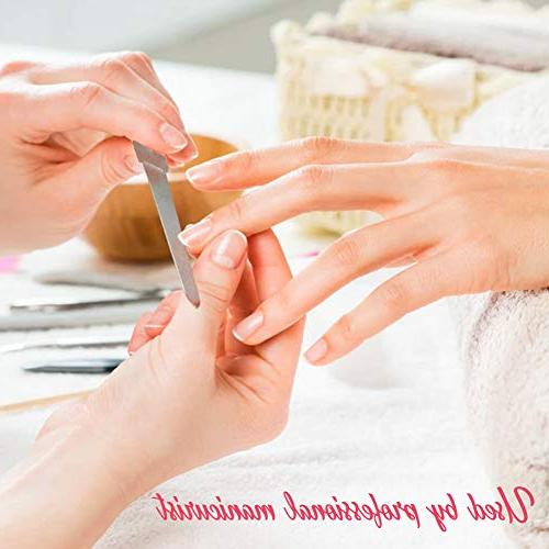 Diamond Nail 2 Pack, Double Sided Gentle Precise Washable Stainless Permanent Surface for Travel