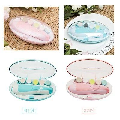 Electric Baby Toddler Nail File Safe Clipper Trimmer Cutter