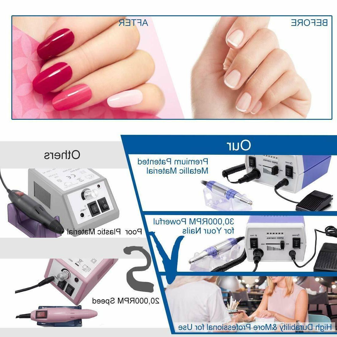 Electric Manicure Machine Pedicure Tool Set 30000RPM