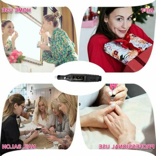 Electric Nail File Drill Portable Professional Manicure Pedicure Machine
