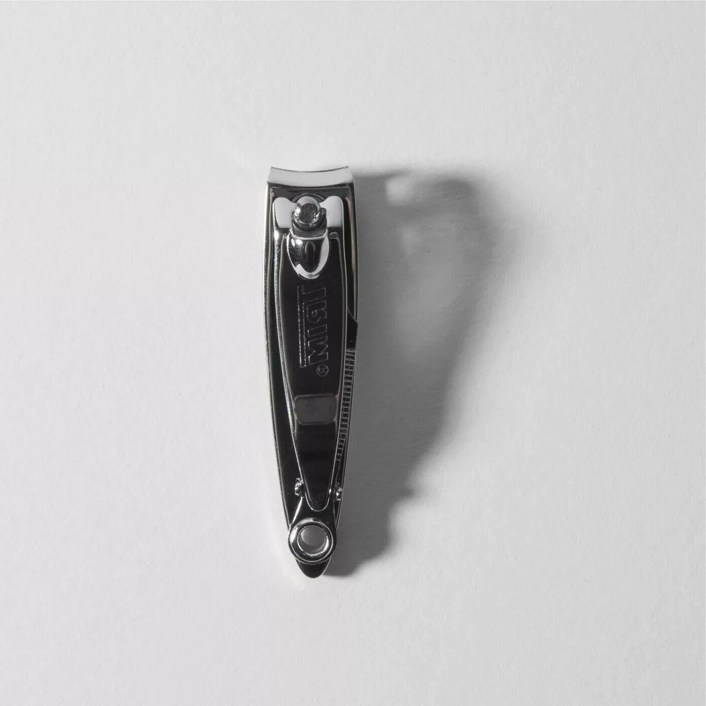 Trim Fingernail Clippers Professional Stainless Sharp W/ Nail File