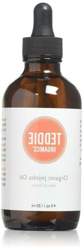 Teddie Organics Golden Jojoba Oil 100% Pure Organic Cold Pre