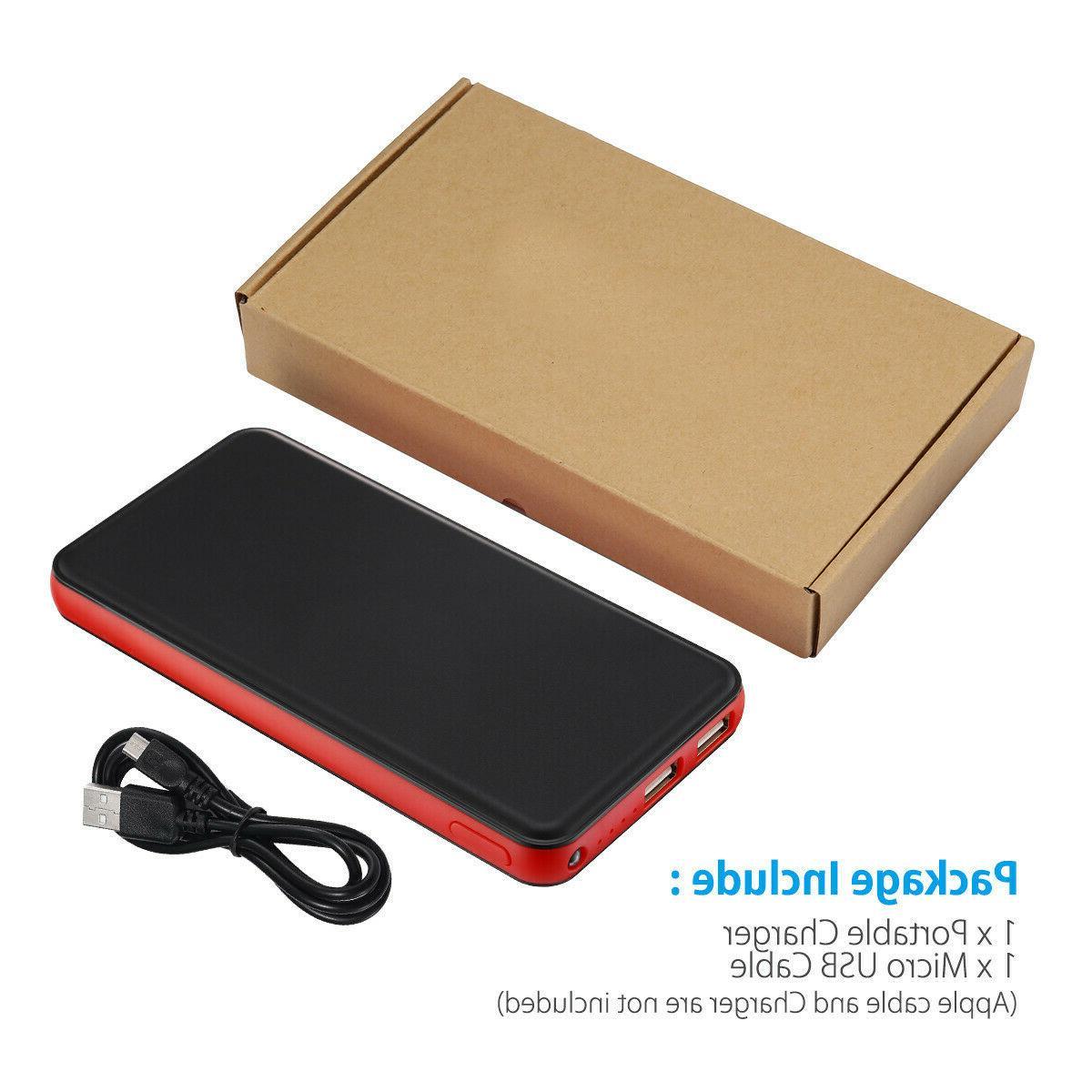 20000mAh Slim Dual USB External Battery iPhone