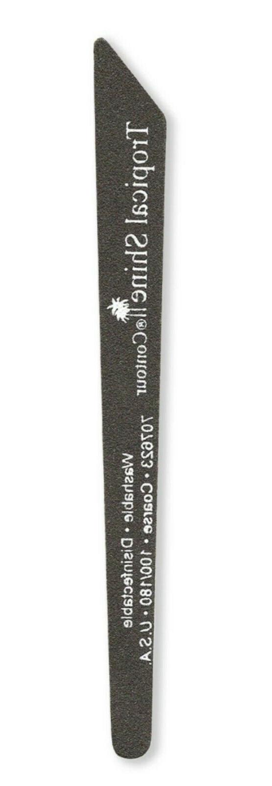 Tropical Long Lasting Black Contour Nail File Coarse Medium grit