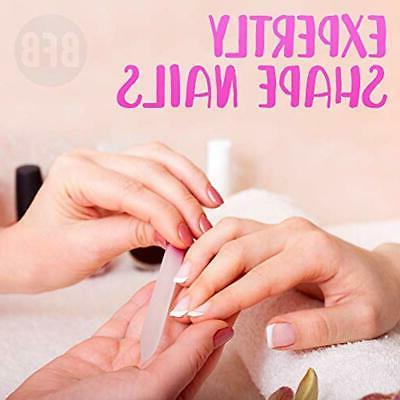 """Manicure Glass Nail With Case, Gentle Precision """""""