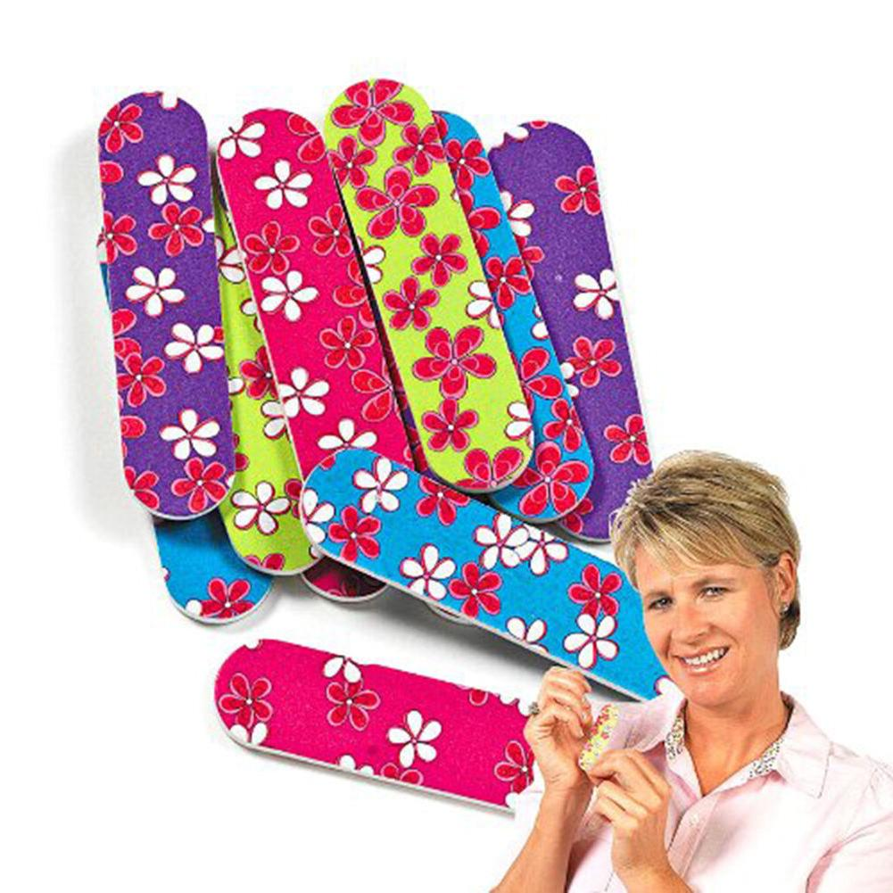 Mini Emery Nail Filing Boards Flower Set pedicure Tool Girly Party Gift