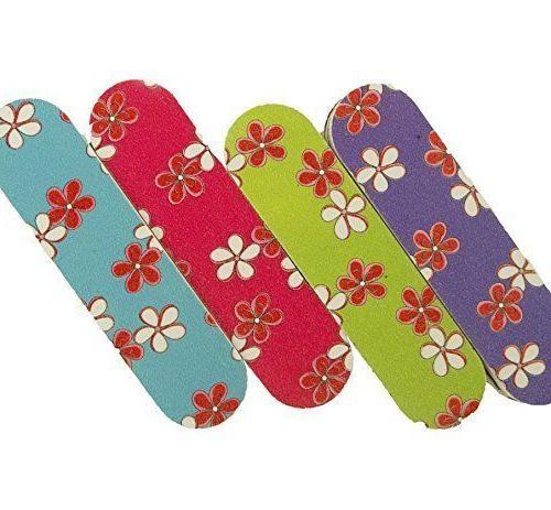 mini emery nail filing boards flower set
