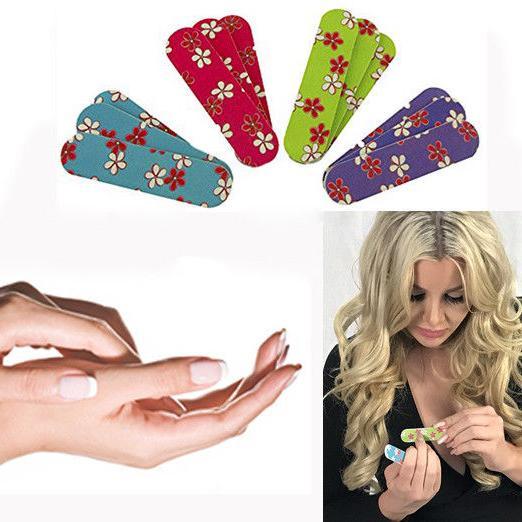 mini flower emery boards nail manicure pedicure