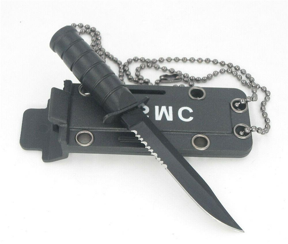 mini necklace blade fruit knife camp outdoor