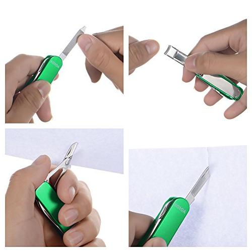 Xosoy Multitool ,Stainless Multifunctional Clip With Folding Keychain For With