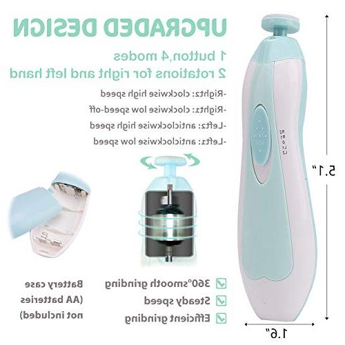Nail Trimmer with Toes Fingernails Grooming Kit Safe Infant Toddler Women, Light 10 Heads