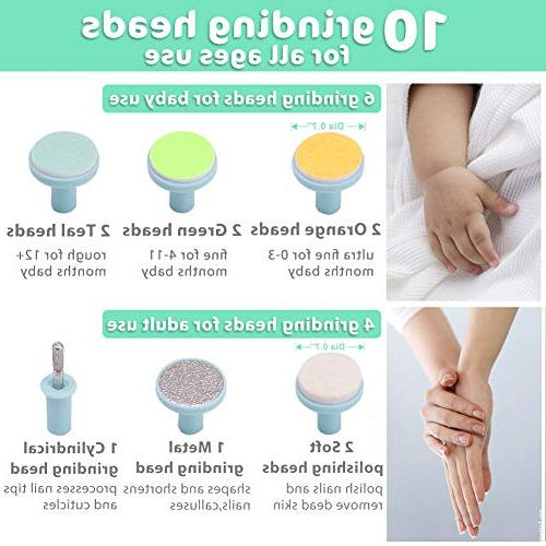 Baby Nail Electric Nail with Nail Fingernails Trim Polish Grooming Infant Women,